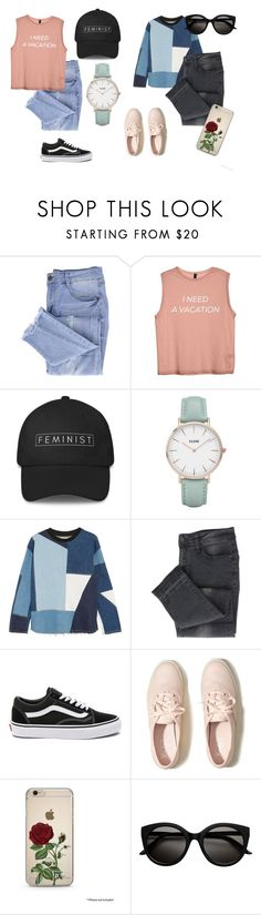 """""""School"""" by evasstylr ❤ liked on Polyvore featuring Essie, CLUSE, Victoria, Victoria Beckham, Vans and Hollister Co."""