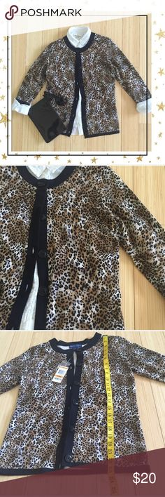 Karen Scott Sweater (GY23H6P) Animal print sweater.100% cotton.  New with tag. Offers welcome. No trade Karen Scott Sweaters Cardigans