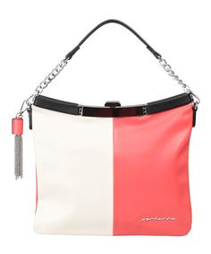 Take a look at this Milk & Coral Color Block Hobo by FORNARINA on #zulily today!