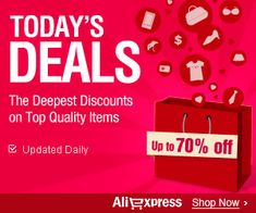AliExpress is offering upto 70% Off Promo Code. AliExpress currently selling more than 5,900 different types of products from over 44 different industries, at your door including the follo…