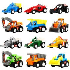 Pull Back Vehicles,12 Pack Assorted Construction Vehicles and Raced Car Toy,Yeonha Toys Vehicles Truck Mini Car Toy For Kids Toddlers Boys,Pull Back And Go Car Toy Play Set         *** Find out more about the great product at the image link. (This is an affiliate link) #ToysGames
