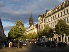 Königstrase in Dresden unweit des Ferien Apartments CANALETTO