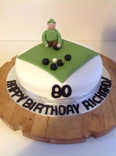 Bowling green cake Cakes Pinterest Green cake Party planning