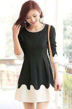 Color Block A-line Dress - OASAP.com