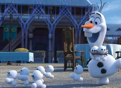 """""""Little brothers!"""" Snowgies and Olaf"""