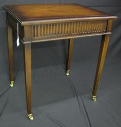 Federal-style mahogany side table. #wickliffauction #antiquefurniture