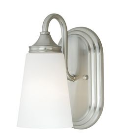 Buy the Vaxcel Lighting Satin Nickel Direct. Shop for the Vaxcel Lighting Satin Nickel Lorimer 1 Light Bathroom Sconce - Inches Wide and save. Bathroom Sconces, Bathroom Wall Lights, Bathroom Vanity Lighting, Light Bathroom, Master Bathrooms, Bathroom Ideas, Wall Fixtures, Light Fixtures, Nailart