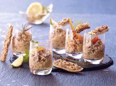 Zelfgemaakte makreel rillettes voor op toast