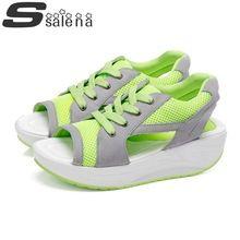 ee923fb3b11 Sandals Women s Leisure Platform Sandals New 2016 Fashion Cutout Thick  Heels Summer Rome Sandalias