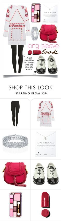 """long-sleev dress outfit"" by kkaey ❤ liked on Polyvore featuring Proskins, For Love & Lemons, Dogeared and Chanel"