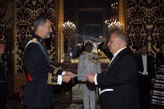 El Rey Felipe VI recibe las cartas credenciales de los nuevos Embajadores acreditados en el Reino de España. Palacio Real de Madrid.  22-09-2016