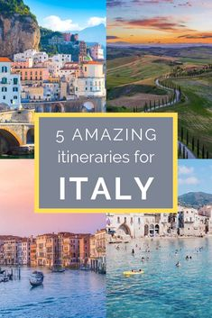 5 Amazing Italy Itinerary Ideas: If you have 10 days in Italy and are wondering where to go, these itineraries are all incredible and will make planning your trip to Italy a breeze! Travel How to Spend 10 Days in Italy: Five Different Itinerary Ideas Italy Honeymoon, Italy Vacation, Trip To Italy, Italy Italy, Italy Travel Tips, Travel Destinations, Travel Europe, Travel Packing, European Travel
