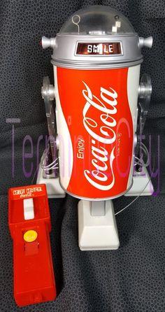 #COBOT #COCACOLA #COKE #REMOTECONTROL #ROBOT #R2D2 #StarWars #Vintage #1979 #Promotional #Box