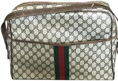 Carry your laptop in style! The Gucci Messenger Vintage Gg Coated Canvas Messenger/Laptop Laptop Bag is a top 10 member favorite on Tradesy. Vintage Gucci, Laptop Bag, Zero, Luxury Fashion, Retail, Technology, Money, Canvas, School