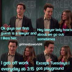 Cory and Topanga (Girl Meets World; Girl Meets Maya's Mother)