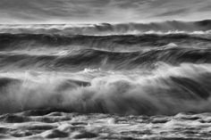 wales black and white photo... Waves!