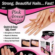 Pink Armor Nail Gel |  2846+ As Seen on TV Items: http://TVStuffReviews.com/pink-armor-nail-gel
