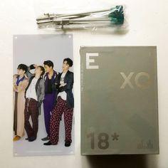 SMTOWN EXO Official 2018 Season Greeting + EXO Group A Mini Banner +EXO Bookmark