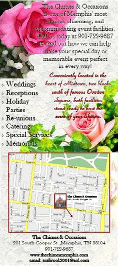Chimes & Occasions rack card