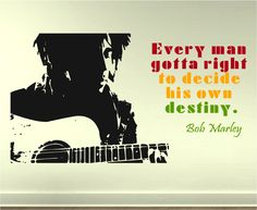 Bob Marley Wall Decal, via Etsy.
