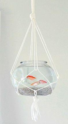 DIY Hanging Macramé Fish Bowl