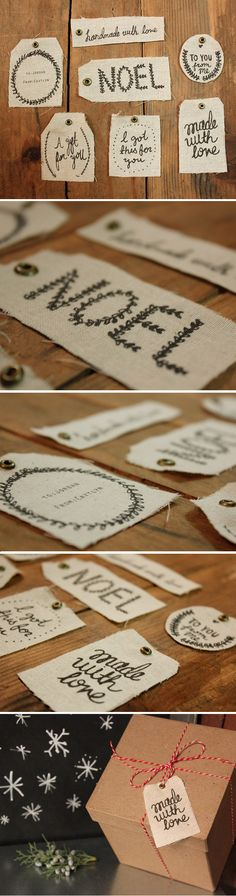 Print on Fabric | Holiday Gift Tags | Kollabora Alt Summit Challenge  #KollaboraAltSummit  @Kollabora