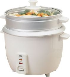Elite - 8-Cup Rice Cooker - White