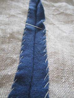 Lösningar: Kampfrau - wool lined with linen technique--good idea for finishing edges