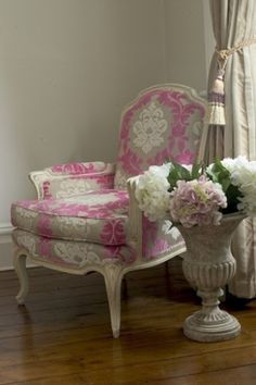 Chair & hydrangeas by Janny Dangerous