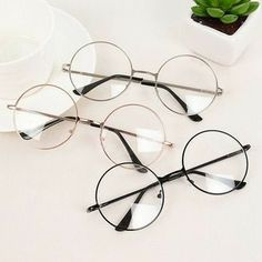 Quality RICHPER 6 Colors Man Woman Retro Large Round Glasses Transparent Metal Eyeglass Frame Black Silver Gold Spectacles Eyeglasses with free worldwide shipping on AliExpress Mobile Glasses Frames Trendy, Circle Glasses Frames, Cute Sunglasses, Sunglasses Women, Round Sunglasses, Glasses Trends, Mode Lolita, Lunette Style, Clothes