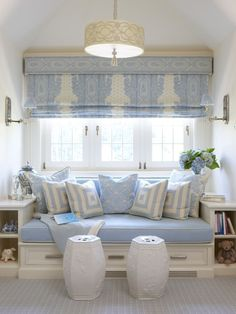 such a delicious shade of blue in the fabrics!