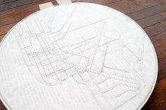 transit map quilt