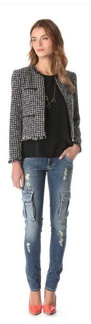Love the jeans!!!!alice + olivia Zipped Box Jacket