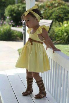 Lacey lane - ♡ Toddler Girl Style, Toddler Fashion, Kids Fashion, Kids Formal Wear, Kids Wear, Our Girl, My Baby Girl, Girls Dream Closet, Yellow Sundress
