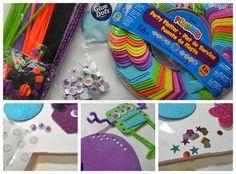 Kids Craft/Party Activity: Make Foam Monsters by CraftsbyAmanda.com #foamcrafts