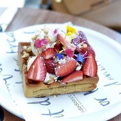 The right way to start the working week is with @nododonut waffles! #nododonuts #waffles #strawberries #mondaymorning #breakfast  via FASHION TRENDS on INSTAGRAM -Celebrity  Fashion  Haute Couture  Advertising  Culture  Beauty  Editorial Photography  Magazine Covers  Supermodels  Runway Models