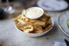 Jordan's fresh cut chips and garlic mayo from the Hintonburg Public House, Ottawa