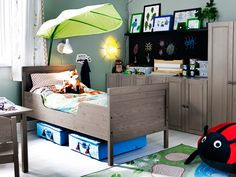 Ikea Childrens Bedroom Ideas White Drapery