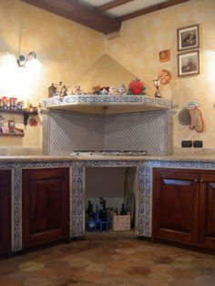 Risultati immagini per cucine in muratura | tavolo | Pinterest ...