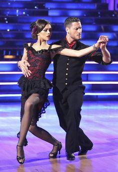Zendaya and Val Chmerkovskiy perform Argentine tango on Dancing With the Stars, season 16.