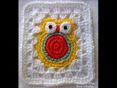 Crochet Granny Square Owl Video ༺✿Teresa Restegui http://www.pinterest.com/teretegui/✿༻