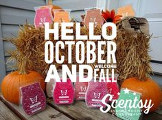Wickless candles and scented fragrance wax for electric candle warmers and scented natural oils and diffusers. Shop for Scentsy Products Now! Hello October, October Fall, Scentsy Independent Consultant, Wax Warmers, Fall Scents, Smell Good, Consultant Business, Fall Winter, Winter Holiday