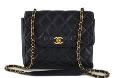 Chanel Caviar Black Tall Quilted Classic Flap Bag
