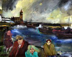 GILL WATKISS Storm, Porthleven Oil on board Sea Spray, Paintings I Love, Cornwall, Walls, England, Oil, Board, Artist, Wands