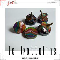 Trottoline in Legno decorato a mano by Archì déco-archiella@libero.it- Napoli-Italy