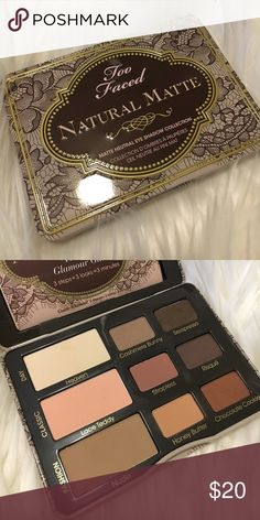 Too Faced Natural Matte Even used twice, few shades untouched just have too many palettes need to declutter Too Faced Makeup Eyeshadow