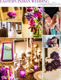 Eastern Indian Wedding Inspiration / Purple and Gold Wedding Inspiration / Cultural Wedding Ideas / Bash! Weddings and Events / Floral Designs by Alicia / Barclay Event Rentals / Dina Chmut Photography / via StyleUnveiled.com