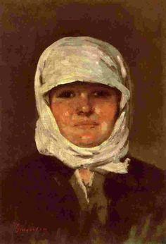 Nicolae Grigorescu Painting & Drawing, Watercolor Paintings, Watercolors, Romanian Women, Art History Major, Portraits, Pointillism, Art Database, High Art