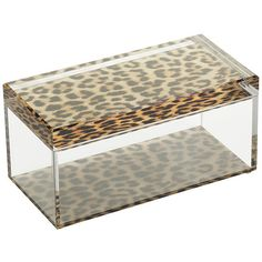 Alexandra Von Furstenberg Accent Treasure Box - Leopard - Large (2.215.960 IDR) ❤ liked on Polyvore featuring home, home decor, small item storage, clear, jewelry trinket box, wall key box, acrylic jewelry box, jewelry storage boxes and acrylic box