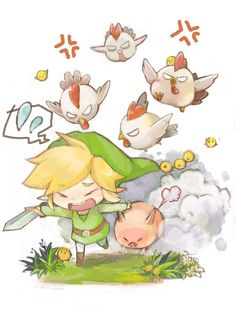 Poor Link....heh *attacks cuccos again*